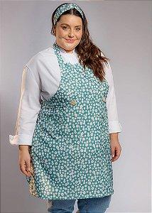 Avental Plus Size - Modelo Roma Margaridas Verdes - Uniblu