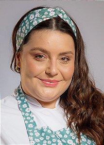 Turbante Margaridas Verdes - Uniblu