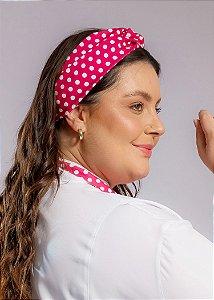 Turbante Poá Pink - Uniblu