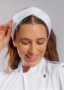 Turbante Gabardine Branco - Uniblu