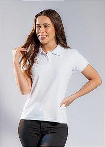 Camisa Polo Feminina Cor- Branca - Uniblu