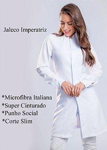 Jaleco feminino Imperatriz Slim - Branco - Uniblu