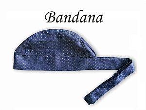 Bandana - Touca Pirata Jeans - ( unisex ) -  Uniblu