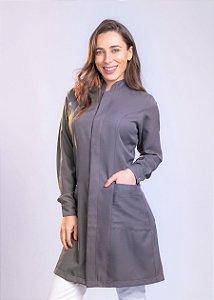 Jaleco Imperatriz Slim - Chumbo - Uniblu
