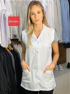 Jaleco Feminino Sem Manga - Gola Sport - Uniblu