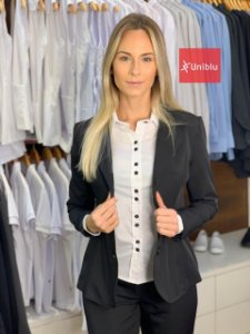 Blazer Social Feminino Executivo - Preto - Uniblu