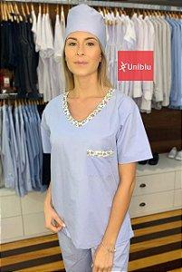 Scrub Veterinário uniblu - Pijama Cirúrgico Azul - Uniblu
