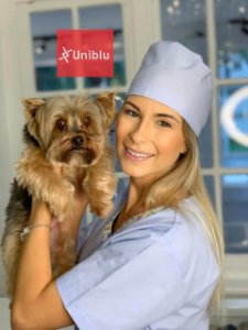 Gorro Veterinário uniblu - Bandana touca veterinária - Uniblu