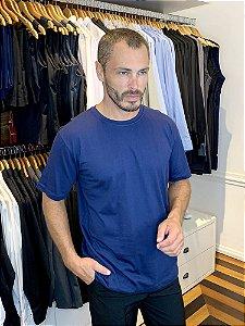 Camiseta Malha 100% alg. Cor Azul Marinho - Uniblu