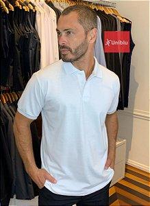 Camisa Polo Masculina Cor Branca - Uniblu