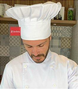 Touca Chefe ou Chapéu Chefe - Branca ( unisex ) uniblu