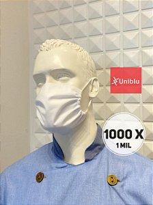 Promoção: R$ 1,00 a unidade -  Kit com 1000 ( 1 mil ) Mascaras, Tecido Duplo Algodão -  Uniblu