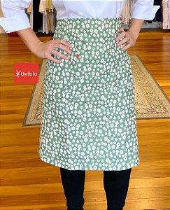 Avental Cintura Meia Saia -  Floral Margarida verde - Uniblu