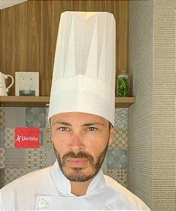 Touca Toque Blanch - Chapéu Cozinheiro - Modelo com Pregas Uniblu