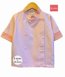 Camisa Chefe Infantil - Dolman Infantil - Rosa Bebê - Unikids