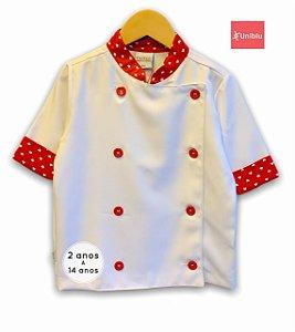 Camisa Chefe Infantil - Dolman Infantil - Estampa Corações - Unikids