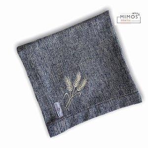 Guardanapo de Mesa - Linho Azul Mescla - Mimos Têxtil