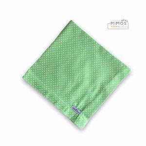 Guardanapo de Mesa - Poá Verde - Mimos Têxtil