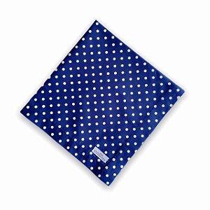 Guardanapo de Mesa - Poá Azul Marinho- Mimos Têxtil
