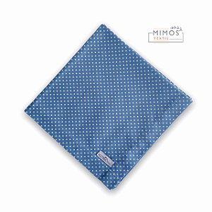 Guardanapo de Mesa - Poá Azul Prussiano- Mimos Têxtil