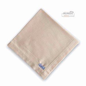 Guardanapo de Mesa - Poá Pequeno - Rosê - Mimos Têxtil
