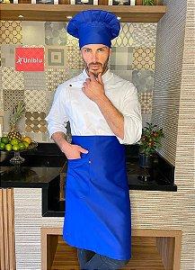 Avental Meia Cintura -  Sarja Premium Azul Royal ( unisex ) - Uniblu