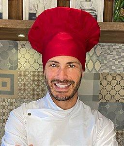 Touca Chefe - Vermelho Bordô ( unisex ) uniblu