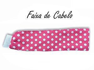 Faixa de Cabelo - Poá Pink - Uniblu