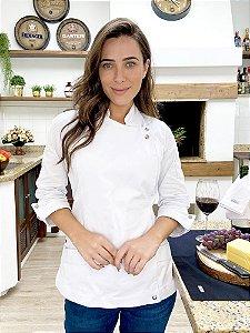 Camisa Feminina Chefe Cozinha - Dolman Elegance Sarja 100% Algodão - Uniblu