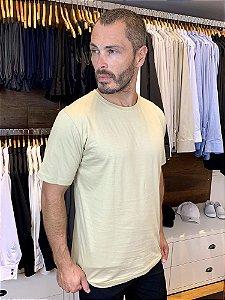 Camiseta Malha 100% algodão Cor Bege - Uniblu