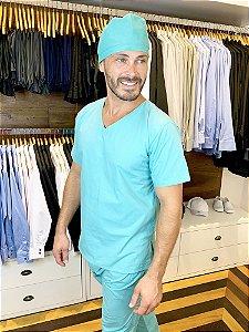 Scrub Veterinário - Pijama Cirúrgico Verde - Uniblu