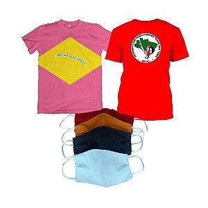 KIT 1: MST e Proteja seus amigos (Camiseta MST + Camiseta Proteja seus amigos Rosa + Kit máscara)