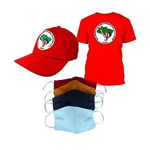 KIT 2: MST (Camiseta MST + Boné MST clássico + Kit máscara)