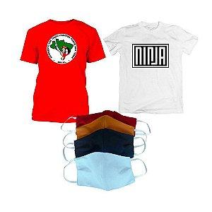 KIT 8: NINJA e MST 2 (Camiseta NINJA + Camiseta MST + Kit máscara)