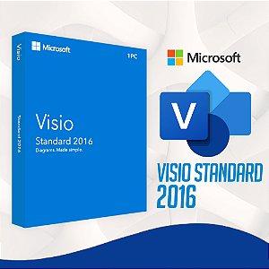 Visio 2016 Standard - 32/64 BITS - Licença Vitalícia + Nota Fiscal