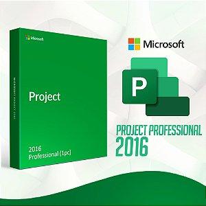Project 2016 Professional - 32/64 BITS - Licença Vitalícia + Nota Fiscal