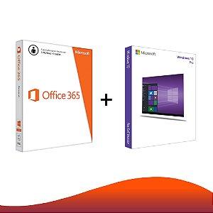 Office 365 + Windows 10 Pro - 32/64 Bits - Licença Vitalícia + Nota Fiscal