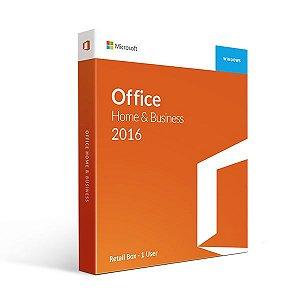 Office 2016 Home And Business - Licença Vitalícia + Nota Fiscal