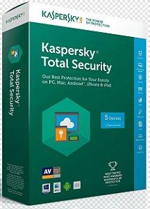 Kaspersky Total Security 2021- Licença Para 1 Dispositivo + Nota Fiscal