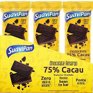 Barras De Chocolate Amargo 75% Cacau - 18 unidades 20g