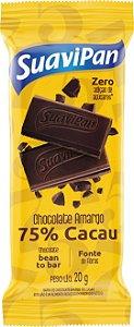 Barra De Chocolate Amargo 75% Cacau 20g