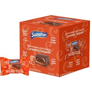 Bombom Chocolate 75% Amargo Recheado com Caramelo Salgado - Com 18 unidades.