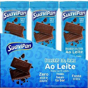 Barras De Chocolate 35% Cacau Ao Leite - 18 unidades 20g