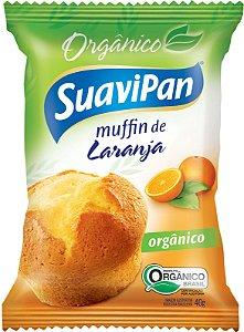 Muffin de Laranja Orgânico SuaviPan Display c/ 12 Unid