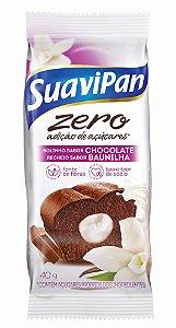 Bolinho Zero Açúcar Chocolate c/ Baunilha SuaviPan Display c/ 12 Unid