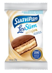 Alfajor LevSlim Chocolate Branco Display c/ 12 Unid