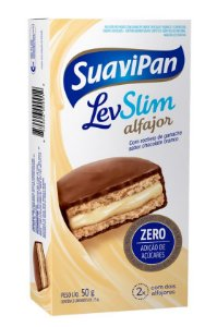 Multipack Alfajor LevSlim Chocolate Branco c/ 2 Unid.