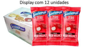 BOLINHO ZERO SABOR RED VELVET C/ CREAM CHEESE 40G / DISPLAY C/ 12 UNID.