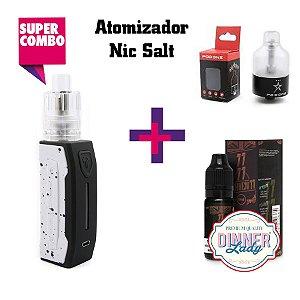 Combo Falcons Kit + Atomizador Pod One (MTL) + Dinner Lady Juice
