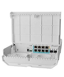 MIKROTIK - SWITCH CSS610-1Gi-7R-2S+OUT (netPower Lite 7R)